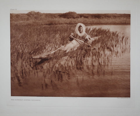 Edward S. Curtis (1868-1953), Muskrat Hunter Pl 714