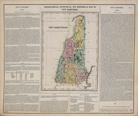 Henry Charles Carey (1793-1879) and Isaac Lea (1792-1886), Geographical, Statistical and Historical Map of New Hampshire