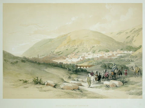 David Roberts (1796-1864), Nablous Ancient Shechem