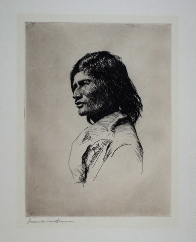 Frank Benson (1862-1951), Nascaupee Indian