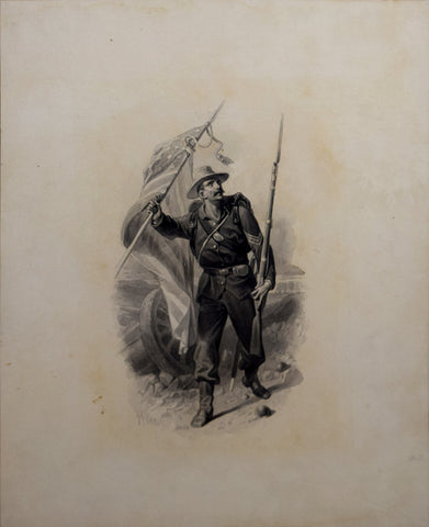 Thomas Nast (1840-1902), Soldier Waving a Flag