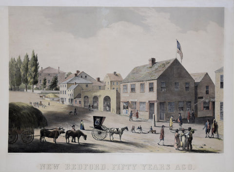William Allen Wall (American, 1801-1875), After;  New Bedford, Fifty Years Ago