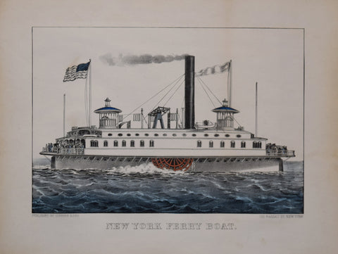 Nathaniel Currier (1813-1888) and James Merritt Ives (1824-1895), New York Ferry Boat