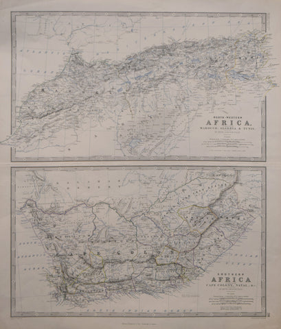 Alexander Keith Johnston (Scottish, 1804-1871), North-Western Africa, comprising  Marocco, algeria & Tunis - Southern Africa comprising Cape Colony, Natal, & c.