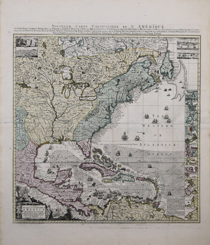 Henry Popple, After,  A Map of the British Empire in America with French Spanish and the Dutch Settlements