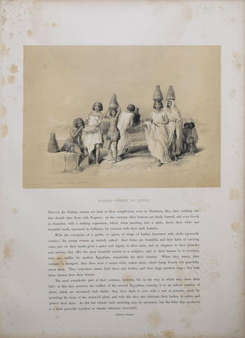 David Roberts (1796-1864), Nubian Women at Korti