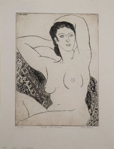 Fred Biesel (1893-1954), Nude with Drapery