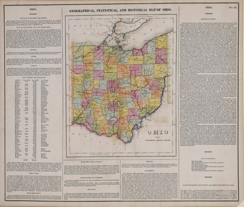 Henry Charles Carey (1793-1879) & Isaac Lea (1792-1886), Geographical, Statistical and Historical Map of Ohio