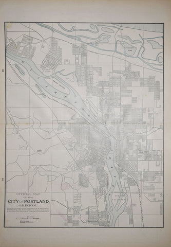 Home Library & Supply Association, Official Map of the City of Portland, Oregon