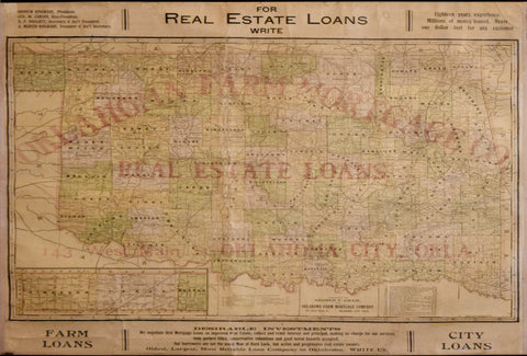 George F. Cram (1842-1928), Oklahoma Farm Mortgage Co., Real Estate Loans Oklahoma City, Okla C. 1900