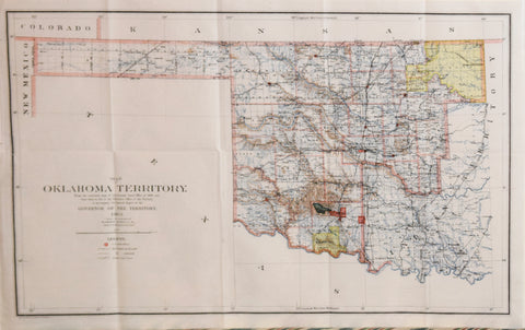 Department of the Interior, General Land Office, Map of Oklahoma Territory