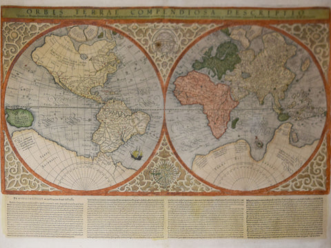 Gerard  Mercator (1512-1594) and Rumold Mercator (1545–1599),  Orbis Terra Compendiosa Descriptio..