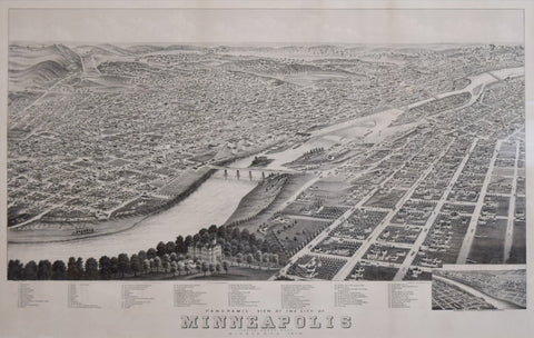 A. Ruger, Panoramic View of the City of Minneapolis, Minnesota…