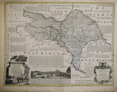 Emanuel Bowen (1694-1767),  An Accurate Map of the North Riding of Yorkshire…