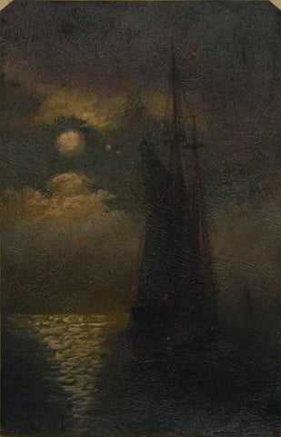 Paul Brown, Becalmed, a Moonlight Marina