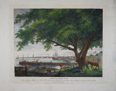 William Birch (1755-1834), Penn's Tree with the City & Port of Philadelphia...