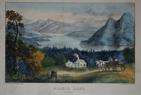 Nathaniel Currier (1813-1888) & James Ives (1824-1895), Placid Lake: Adirondacks