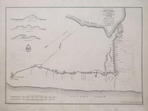 U.S. War Department, Engineer Bureau,  Plan and sections of Fort Fisher, carried by assault by the U.S. forces, Maj. Gen. A.H. Terry commanding, Jan. 15th, 1865