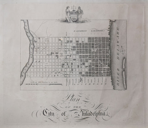 William Birch (1755-1834), Plan of the City of Philadelphia
