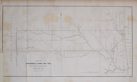 Isaac McCoy, Plat of Cherokee Lands, Ind. Ter: surveyed under instructions from Isaac McCoy