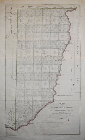 Mathew Carey (1760-1839), Plat of the Seven Ranges of Townships being Part of the Territory of th United States N.W. of the River Ohio