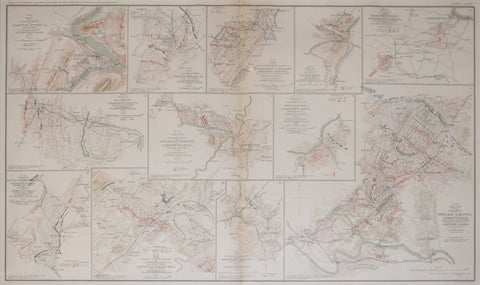 Government Printing Office & Julius Bien (1826-1909), Pl. LXXXII [Map of Engagement at Harper's Ferry VA, July 4th,1864 & Various Battle Sites throughout VA.]