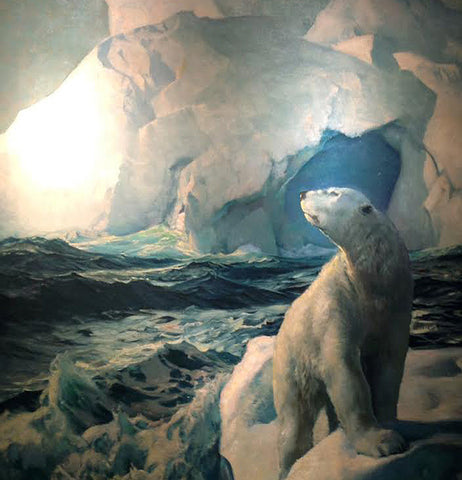 FREDERICK JUDD WAUGH (1861-1940) 70 Degrees North, 1932 Also known as 80 Degrees North; 90 Degrees North; The Polar Bear)