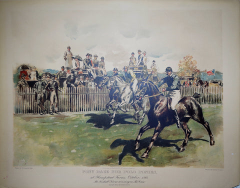 W. S. Vanderbilt Allen, Pony Race for Polo Ponies
