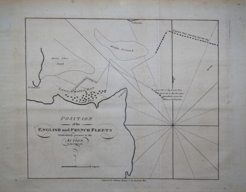 Charles Stedman (English, 1753-1812), Position of the English and French Fleets...