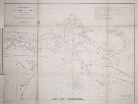 United States Coast Survey: A.D. Bache Superintendent, Preliminary Chart of Beaufort Harbor, North Carolina