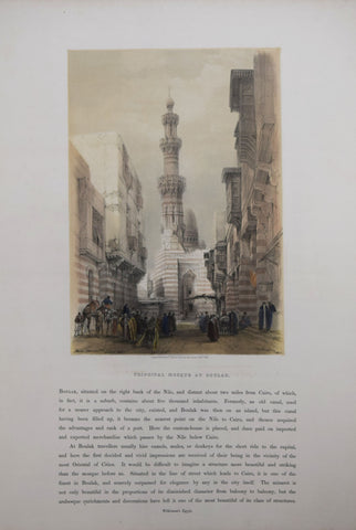 David Roberts (1796-1864),  Principal Mosque at Boulak