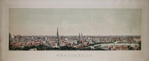 John H. Bufford (1810-1870), Providence from Prospect Terrace 1877
