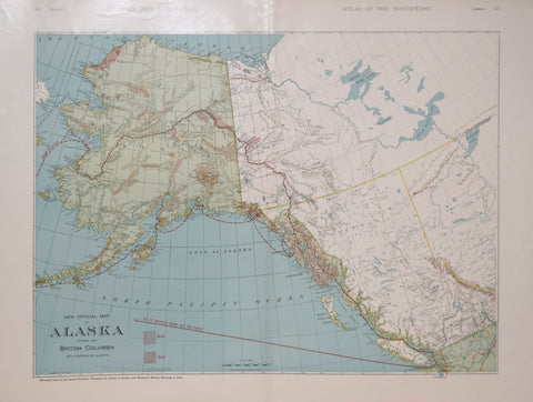 Rand McNally and Company, New Official Map of Alaska Showing also British Columbia with Portion of Alberta