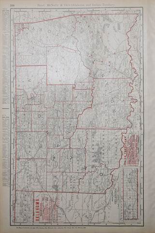 Rand McNally & Co., Oklahoma with Railroads