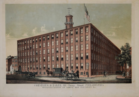 William H. Rease ( CA. 1818-1893), Cornelius & Baker, 181 Cherry Street, Philadelphia, Manufacturer of Lamps, Gas Fixtures & c.