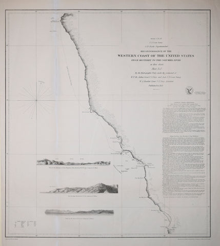 United States Coast Survey: A.D. Bache Superintendent, Reconnoissance of the Western Coast of the United States from Monterey to the Columbia River..Sheet No. 1