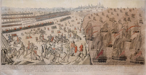 Anonymous,  Reddition de l'Armee Angloises Commandee par Mylord Comte de Cornwallis aux Armees Combinees des atats unis de l'Amerique et de France (The French Representation of the Surrender at Yorktown)