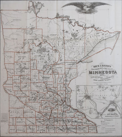 Rice and Reed,  Rice and Reed's Township Map of Minnesota