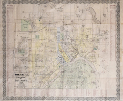 G Jay Rice 18161904 Rices Map of the City of St Paul Arader