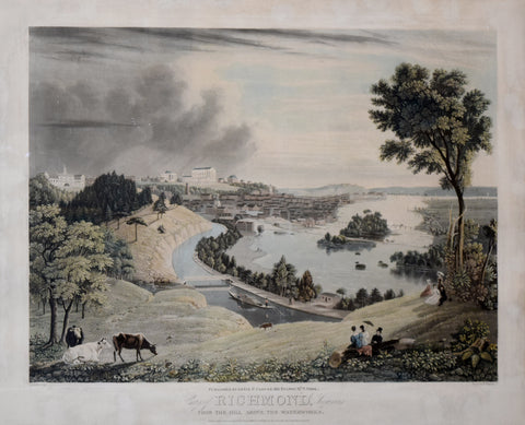 William James Bennett (1787-1844),  City of Richmond, Virginia from the Hill above the Waterworks