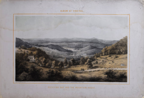 Edward Beyer (1820-1865), Rockfish Gap and the Mountain House
