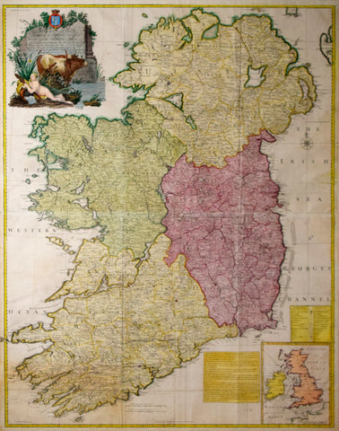 John Rocque (1704?-1762), A Map of the Kingdom of Ireland: divided into Provinces, Counties and Baronies...