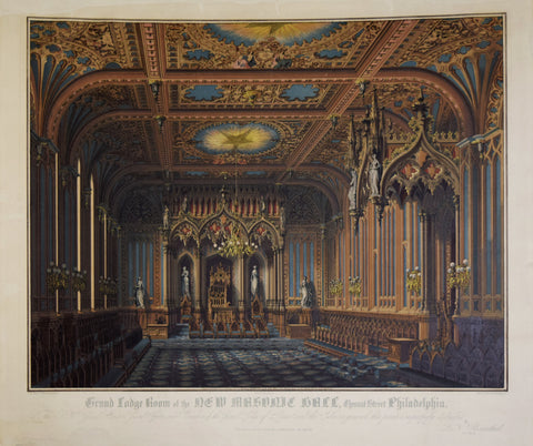 Max Rosenthal (1833-1918), Grand Lodge Room of the New Masonic Hall…