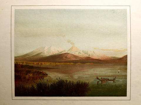 John Gully (1819-1888), Ruapehu And Tongariro Mountains From Lake Taupo