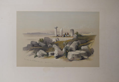 David Roberts (1796-1864), Ruins called Om El Hamed near Tyre