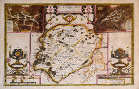 John Speed (1552-1629), Rutlandshire with Durham and Stanford...