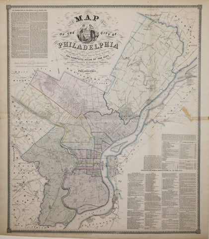 Samuel Smedley, Map of the City of Philadelphia...Photographically reduced from Large Drawings…