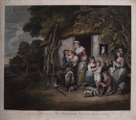 William Redmore Bigg (1755-1828), after, Saturday Evening, The Husbandmans Return from Labor