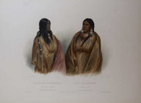 Karl Bodmer (1809-1893), Woman of the Snake-Tribe, Woman of the Cree-Tribe
