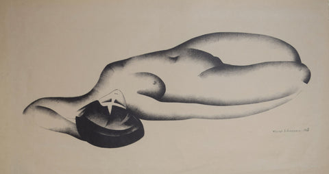William Samuel Schwartz (1896-1977),  Lithograph No. 1, Nude Lying Down